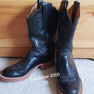 Women's Black Lucchese Boots